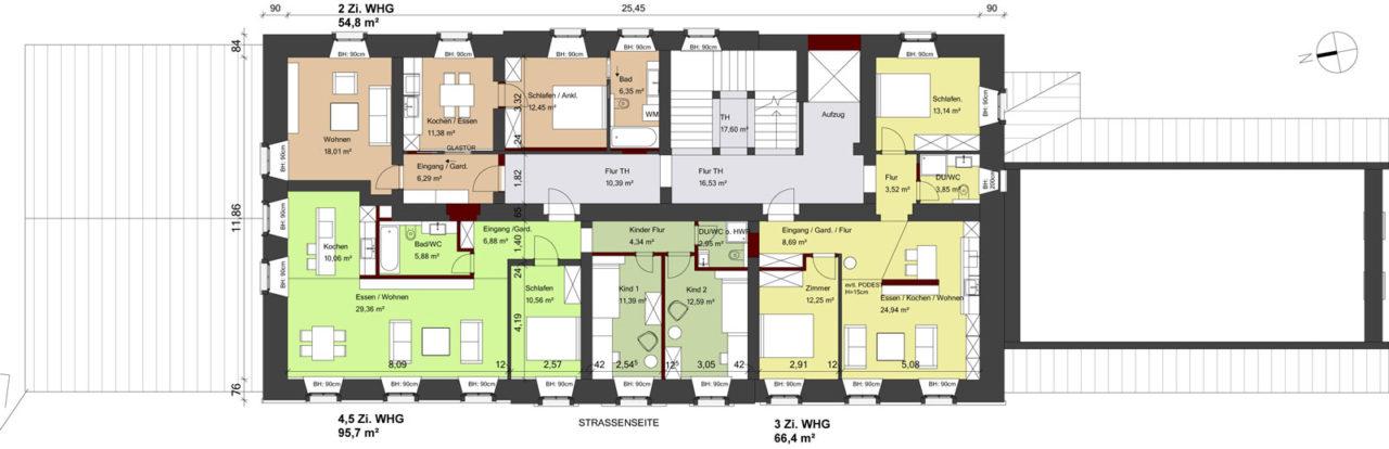 Grundriss Klosteramtshaus 1. OG