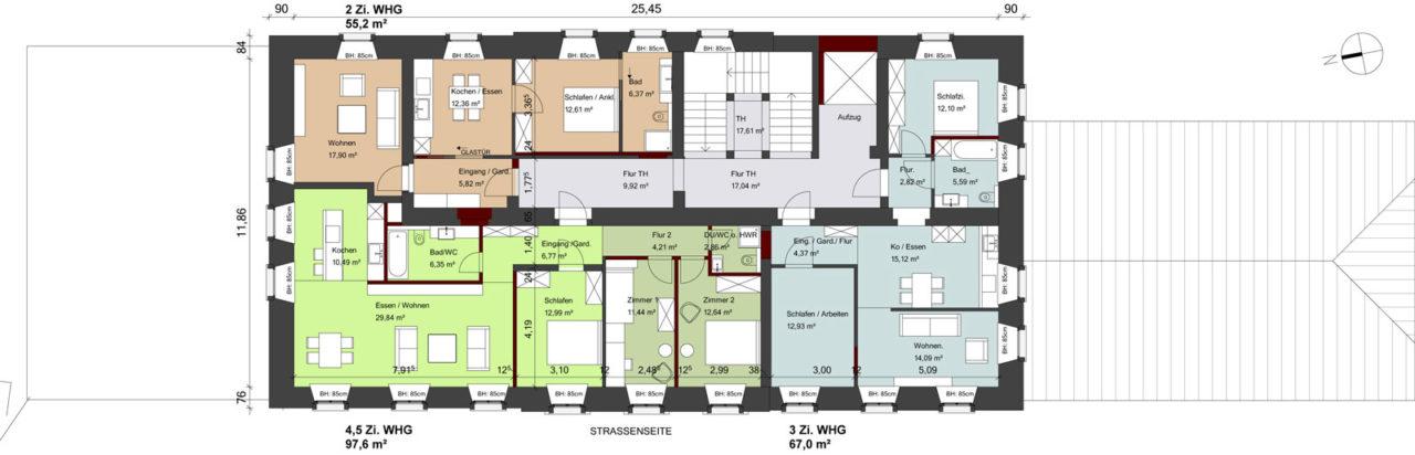 Grundriss Klosteramtshaus 2. OG